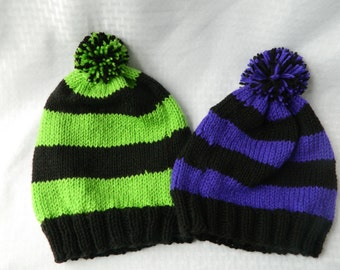 Striped Slouch Beanie