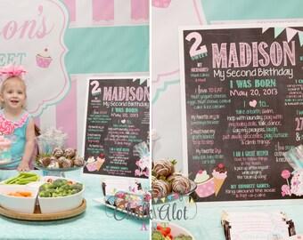 Too Sweet Birthday Chalkboard, Sweet Shoppe Birthday, Candy Poster, Sweets Stand Chalkboard, First Birthday Chalkboard, Milestone