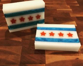 Chicago Flag Soap