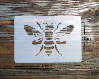 Large Bee Stencil approx 135mm x 90mm Washable and Reusable. Dimensions refer to the overall size of the item.