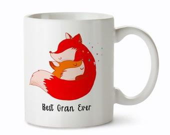 Grandma Mug - Grandparents Mug - Gift to Grandma - Gift for Grandma Mug - Best Gran Ever Coffee Cup - Mug for Grandma - Fox Coffee Mug