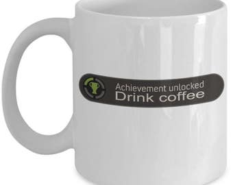 Funny Gaming Mugs - Achievement Unlocked - Ideal Gamer Gifts