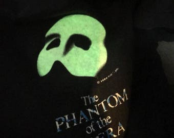 Vintage 1986 The Phantom Of The Opera Shirt Size L Free Shipping Grown In The Dark Andrew Lloyd Webber