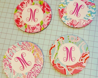 Lilly inspired coaster set
