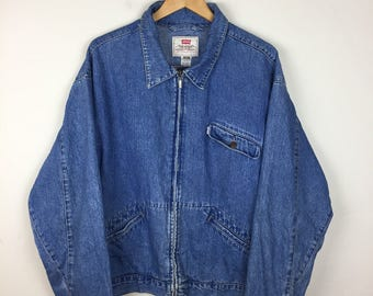 RARE 90s Levis Denim Jacket Size XL, Vintage Levi's Jacket