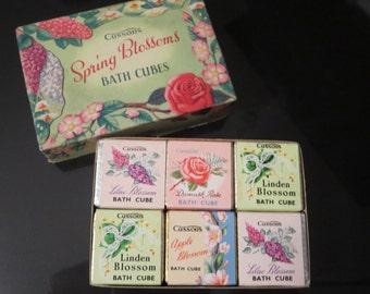 Cussons ''Spring Blossoms'' Bath Cubes - Vintage