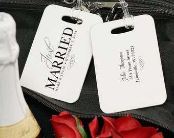 Personalized Just Married Bag Tag Custom Name Gift