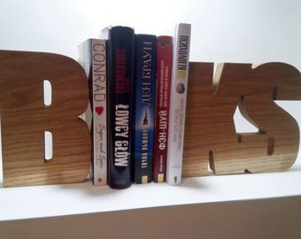 Wooden bookends/ Unusual book ends / book stopers / books holder