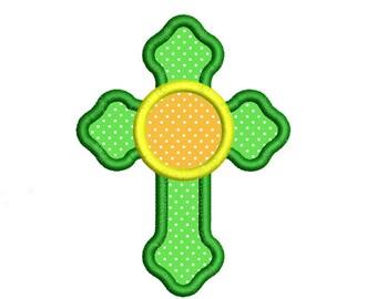 Cross Applique Embroidery Design. Cross Embroidery Design. Easter Cross embroidery. Monogram Embroidery. Machine embroidery.