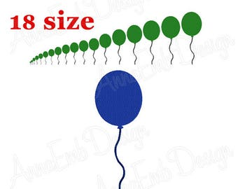 Balloon embroidery design. Mini Balloon. Filled Stitch embroidery Design. Machine embroidery design. Single balloon. Party embroidery.