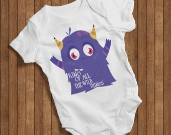 King of all the wild things Funny Baby Humor Hip Baby bodysuit Baby One Piece,Burp Clothes Gift Birthday Present Happy Cute Baby outfit0067W