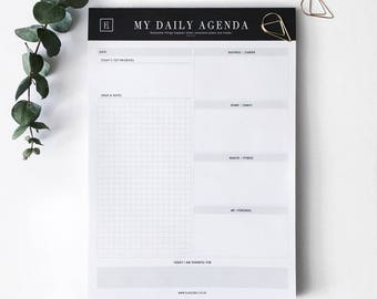 My Daily Agenda | Notepad | Undated Planner