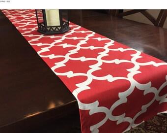 SALE! -  Red Table Runner - Table Runner - Kitchen Table Runner - Red Table Runner