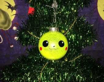 Pikachu Pokemon Inspired Shatterproof Christmas Holiday Tree Ornament New
