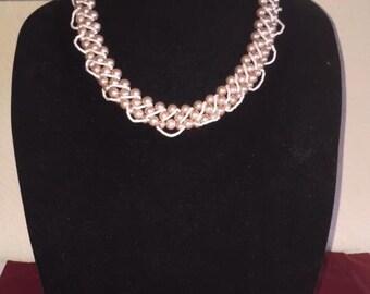 Handmade pearl bead necklace