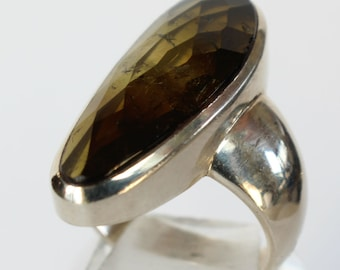 Smokey Quartz Ring Sterling Silver Gift for Her