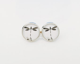 The 'Dragonfly Obsession' Glass Earring Studs