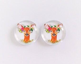 The 'My Deer-est' Glass Earring Studs