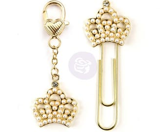 Crown Charm and Clip 2/pk - Prima Marketing
