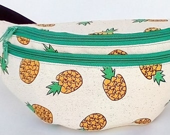 Fanny Pack pineapple, hip bag,bum bag,waist bag,belt bag,hip pouch,bags & purses festival bag, concerts bag, festival bag , camping bag