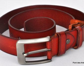 Leather Belt, Full Grain Leather Belt, Italian Brown Leather Belt, Mens Leather Belt, Womens Leather Belt ,Christmas gift
