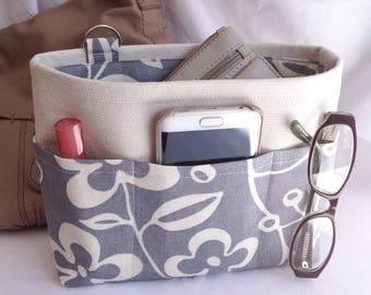 Handbag insert - Bag organiser - Handbag Caddy - Purse insert - 'Flora' Print