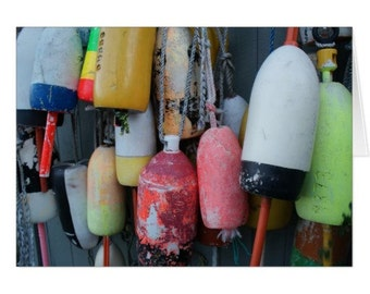Lobster Buoys Note Card