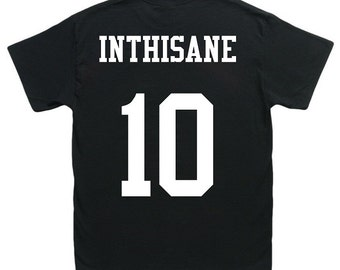 custom adult name & number tshirt