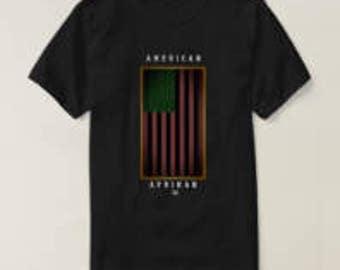 UProSquad. American Afrikan Flag T Shirt