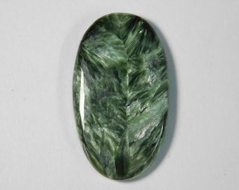 Seraphinite cabochon gemstone, green seraphinite loose gemstone, Natural seraphinite gemstone, seraphinite loose stone 33 Cts. #404N