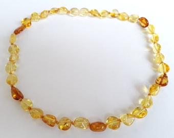 Lemon cognac olive amber teething necklace amber necklace for baby golden cognac yellow lemon baltic amber teething necklace child jewelry