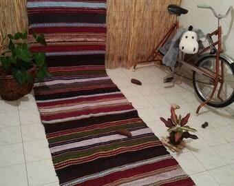 Textile Rug Hallway Rug Navajo Rug Cottage Rug Braided Rug Garden