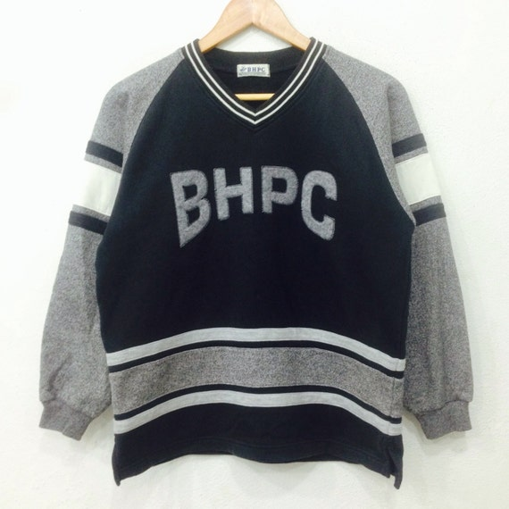 Rare!! Vintage BHPC Sweatshirt Big Logo Spellout Black Colour