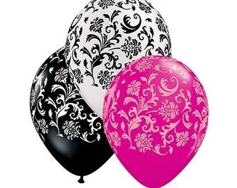 """Damask Balloons 11"""""""