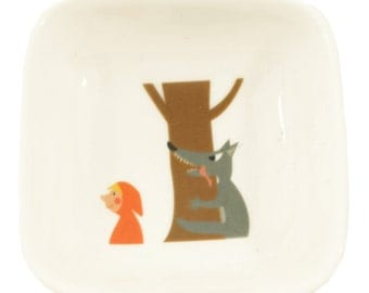 Little red riding hood and wolf bowl
