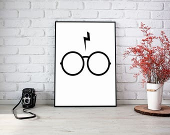 Harry Potter Minimalistic Print Bedroom Picture
