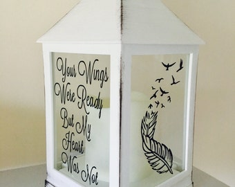 Remembrance gift, memorial gift, in loving memory, memorial, memorial lantern, memory lantern, candle lantern, remembering a loved one