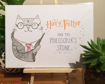 A4 Hairy Potter Print