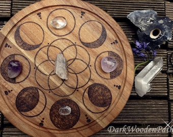 Crystal Grid ~ seed of life ~ with phases of the Moon
