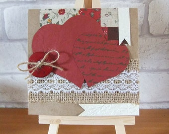 Any occasion greetings card, love hearts card, valentines day card, card for him or her
