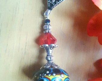 Artisan lampwork bead pendant