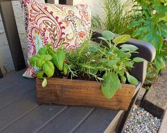 Rustic Flower Box / Custom Wood Planter / Garden Box / Outdoor Flower Pot /  Herb
