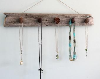 Barnwood Necklace Holder