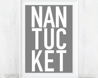 Nantucket, Nantucket Art, Nantucket Sign, Nantucket Poster, nantucket print, nantucket island, nantucket art, nantucket decor, island art