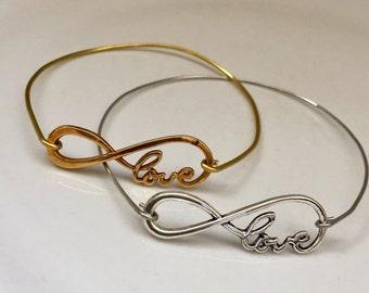 Infinite Love Wrap Bracelet, Infinite  bracelet, Jewelry, gift for her, Trends for women
