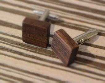 ZaTeKo walnut wood cufflinks