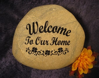 Engraved Address/Welcome/Stones/Rocks/Greeting/Gifts, Personalized