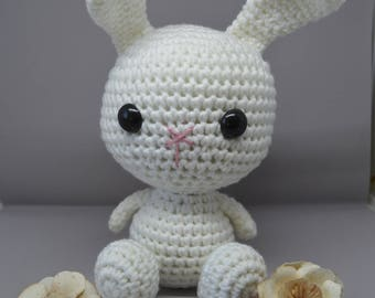 White Bunny, amigurumi plush