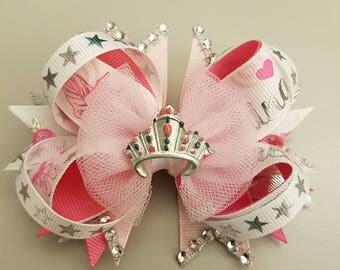 Ballerina Hair Bow, bows, Hair Bows, Ballet, pink