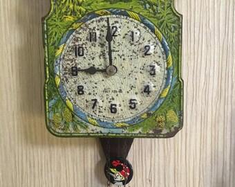 Antique Soviet Clocks 60-s ''Bears in the Wood'' Working CLOCK